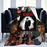 CaryJShelby Scarface Blanket Throw Size Ultra Soft Flannel Fleece All Season Light Weight Living Room/Bedroom Warm Blanket 80'X60'