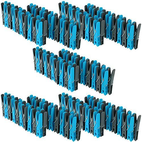 com-four® Pinzas para la Ropa 200 en un Paquete de Ahorro Tendencia (200 Piezas - Soportes)