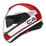 SCHUBERTH -Casco C4 integrale da motociclista, con parasole integrato, parabrezza anti-appannamento, microfono, altoparlanti integrati e antenna (SC1ready), ECE-R22.05