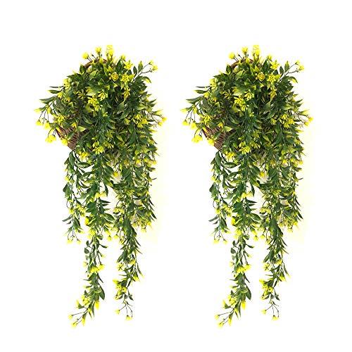 JustYit® 2 PCS Plantas Hiedra Artificial,Guirnalda Hiedra Artificial De Hogar Boda Jardín...