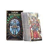 Iwinna Illuminati Kit Tarjetas Tarot – 78 Cartas a todo color baraja Tarot para Juegos de Fiesta Familiar