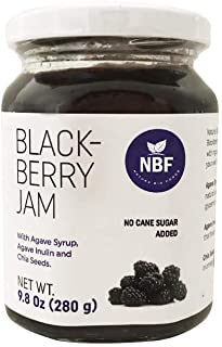 Natura Bio Foods Blackberry Jam Agave Syrup and Inulin Keto Low Glycemic Chia Seeds No Added Sugar (9.8 Ounce - 280 g)
