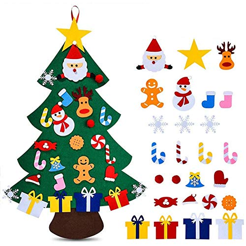 Huante DIY Felt No.l Tree for DIY No.l Decorations, Christmas Tree Wall Decoration, Home Decoration, Gifts for Children