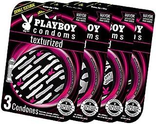 Playboy Condoms Texturizados colección 2018 con 4 paquetes de 3 condones c/u