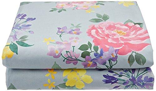 Anne de Solene Opulence Drap Plat Coton Vert 180 x 290 cm