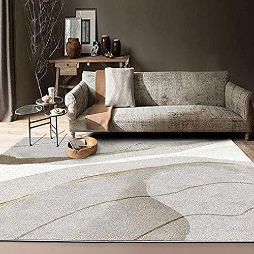 La alfombras Sofa Salon El diseño geométrico de Crema marrón Gris corredero no se desvanece la Alfombra alfombras Juveniles para Dormitorio alfombras Lavables 60*90CM