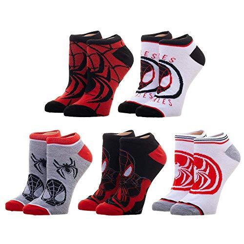 Marvel Spiderman Miles Morales 5 pair Ankle socks