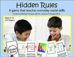 Hidden rules card game to encourage social skills in autistic teenagers