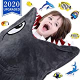 CozyBomB Shark Tails Animal Blanket for Kids - Cozy Smooth One Piece Design - Durable Seamless Snuggle Plush Throw Enlarged Size Gray Sleeping Bag with Blankie Fun Fin - Boys and Girls