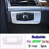 SLONGK Para BMW X5 X6 E70 E71 2008-2013, Accesorios para automóviles ABS Mate Plata decoración Interior del Coche Tira Marco Cubierta Pegatina Trim