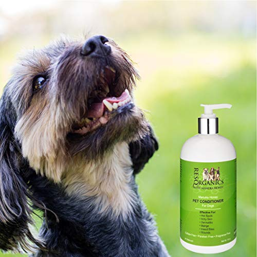 Dog Shampoo for Allergies and Itching - Hypoallergenic Manuka Honey Healing Pet Shampoo for Dogs with Sensitive, Dry Itchy Skin, Shedding Issues, and Mange. Natural and Organic!