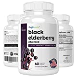 Black Elderberry Advanced 500mg Enriquecido con Vitamina C L