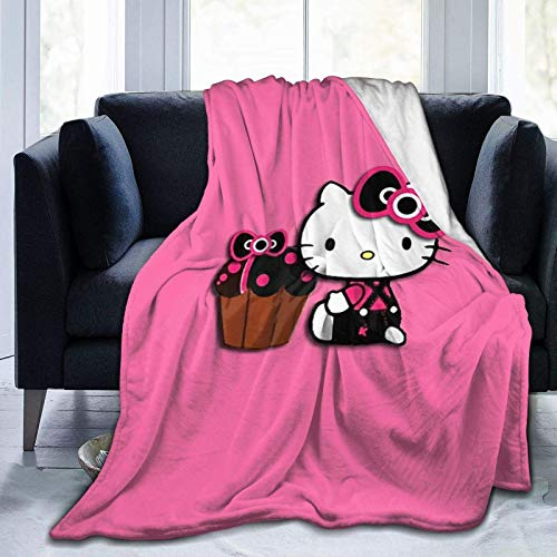 N \ B Weiche Überwurfdecken, Hello Kitty-Design, warme Decke, Tagesdecke, Tagesdecke, Bettüberwurf, 127 x 101,6 cm