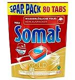 Somat 12 Gold: Sparpack mit 80 Spülmaschinen-Tabs mit höchster Reinigungskraft