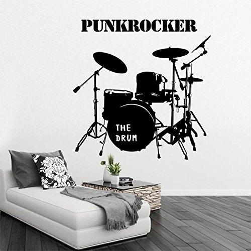 MiYan Schlagzeug-Set, akustische Musikdekoration, Vinyl-Wandaufkleber, Schlafzimmer-Trommel, Wandkunst