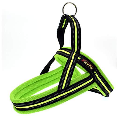 Tuzi Qiuge Leine Haustierleine Hundehalsband Harness A7 Reflektierende Polyester Brustgurt Blei Leine Traktion Big Hunde Sicherheitskette Seilkragen (Color : Green)