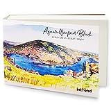 int!rend Bloc de papier aquarelle | 60 feuilles de papier aquarelle A6, 300g, blanc | Papier pour peintures aquarelles
