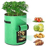 植物栽培 バッグ 2pcsグローバッグプランターポットフルーツフラワー野菜トマトポテト再利用可能なバッグ 園芸 植物育成