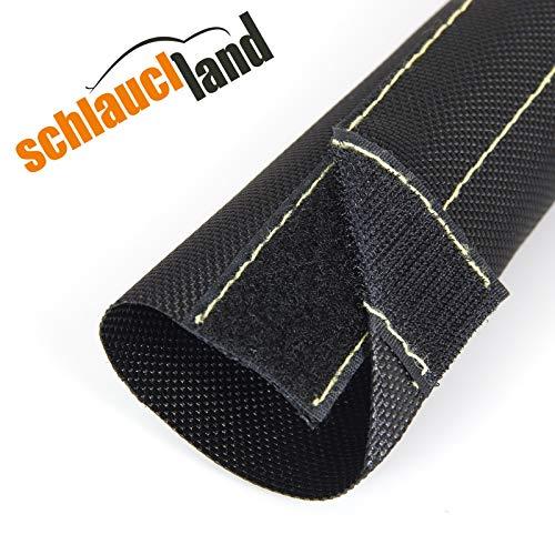 1 Meter Nylon-Gewebeschlauch mit Klettverschluss Innendurchmesser 15mm *** Kabelschutz Schutz Schlauch Hitze Abrieb