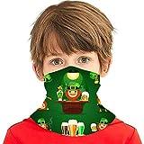 ZVEZVI St Patricks Days Set con cubierta de bufanda de cara de herradura Deporte al aire libre Correr Niños Cubierta facial Variedad Toalla facial Diadema para el cuello