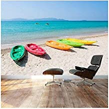 Wall26 - Large Wall Mural - Beautiful Scenery of Colorful Kayak/Boats on Tropical Beach | Self-adhesive Vinyl Wallpaper/Removable Modern Decorating Wall Art - 66