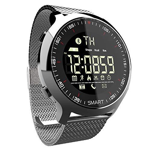 HuangTing Smart Horloge Sport Waterdichte Stappentellers Bericht Herinnering Bluetooth Outdoor Zwemmen Mannen Smartwatch Voor Ios Android Telefoon