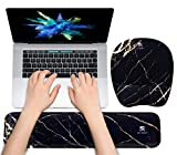 Keyboard Wrist Rest Mouse Pad Wrist Support for Computer Desktop/Laptop/Notebook Memory Foam Keyboard Pad Ergonomic Hand Rest Wrist Cushion for Home Office Gaming Easy Typing-Black Gold