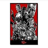 PDFKE Q1842 Plakate und Drucke Sin City Movie Art Poster