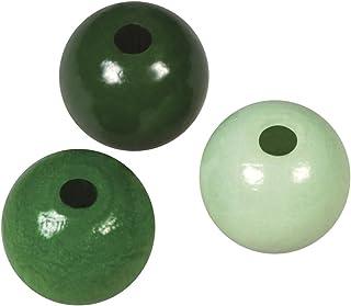 Rayher 1227000 Holzperlen, poliert, 8 mm ø, SB-Btl. 82 Stück, Grün-Töne - wurde ersetzt durch: 1252700