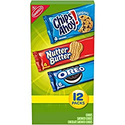 Nabisco Cookie Variety Pack, OREO, Nutter Butter, CHIPS AHOY!, Halloween Treats, 12 Snack Packs