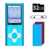 G.G.Martinsen Versatile MP3/MP4 Player with, Support Photo Viewer, Mini USB Port 1.8 LCD, Digital MP3 Player, MP4 Player, Video/Media/Music Player (White on Blue)