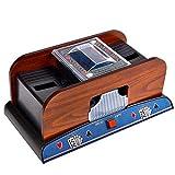 Kartenmischmaschine Elektrische Mischmaschine Karten professioneller Kartenmischer für Klassische Poker-Sammelkartenspiele (2 Deck)