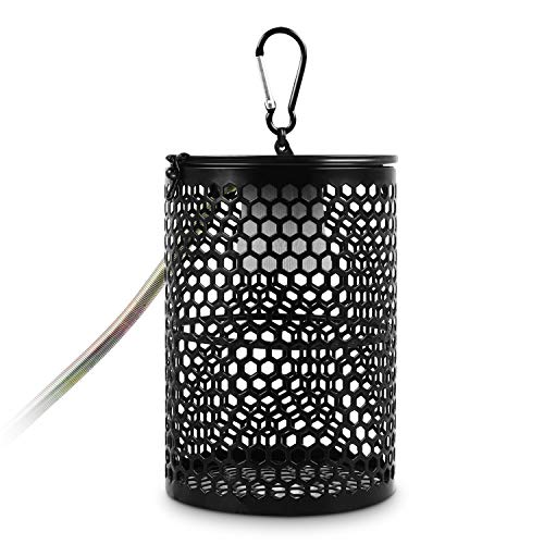Pecute Ceramic Heating Lamp Protection Cover with Anti-bite Tube, Standard E27 Lamp Holder, Anti-Scalding, Anti-Leakage(UK)