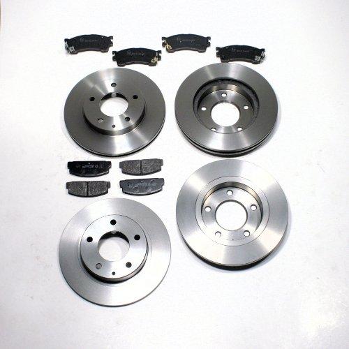 Bremsscheiben/Bremsen + Bremsbeläge für vorne + hinten