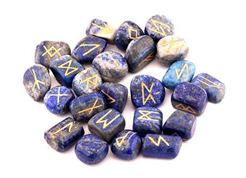 Healing Crystals India - Kit de reparación de piedras de río, piedras de reiki, cristales ocultistas, decoración pagana y wiccan LPRS , 25 Count (Pack of 1), lapis lazuli, 1