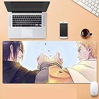 NARUTO-ナルト-マウスパッドアニメゲーミングマウスパッドXXL900x400x3 mm、3mm滑り止めラバーベースで防水、コンピューター、PC用の特別なテクスチャー表面-A_800x300x30mm