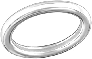 Oxidized Plain Rings 925 Sterling Silver Liara Polished Nickel Free