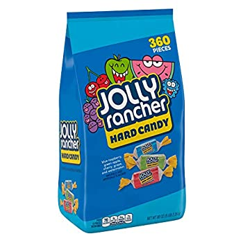 JOLLY RANCHER Assorted Fruit Flavored Hard Candy Individually Wrapped 5 lb Bag  360 Pieces