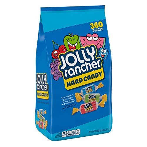 JOLLY RANCHER Assorted Fruit Flavored Hard Candy, Valentine's Day, 5 lb Bag (360 Pieces)