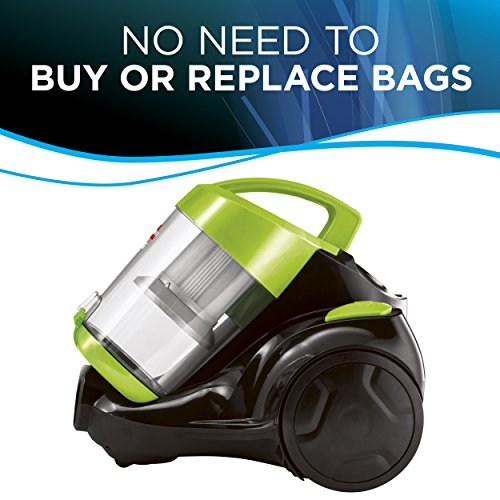Bissell 2156A Zing Bagless Canister Vacuum, Green