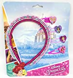 TDL Disney Princess Set - 4 Diademas & 4 Pinzas De Cabello - Licenciado Oficialmente - 4 Head Band and Clip Set