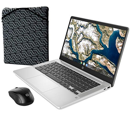 Celeron n4000 4gb 64gb emmc 14-inch full hd wled chrome os with mouse and sleeve