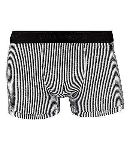 Dolce & Gabbana Herren Boxershorts Regular Boxer Unterhose Stripes and Pois FS7V0, Wäschegröße:XL, Artikel:-HWC20 riga/Micro pois