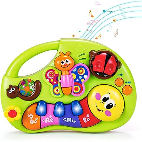 GLOBAL IGO. Musikalisches Babyspielzeug für 1 2-jährige Mädchen Jungen, Licht Insekt klingt musikalische Klavierinstrumente für Kleinkinder, lernen pädagogische sensorische Tätigkeitsspielzeug für 6 1