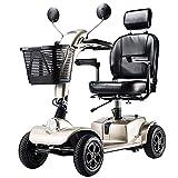 APOAD Älterer Roller, Faltbarer Elektrischer Roller, Behindertes Älteres Vierrädriges Elektrofahrzeug,E-Mobil, Seniorenfahrzeug, Belastbarkeit 130Kg