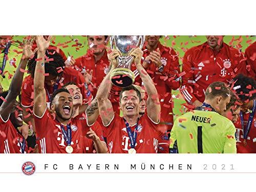 FC Bayern München 2021 Wand-Kalender - Fußball-Kalender - Fan-Kalender - 64x48 - Sport