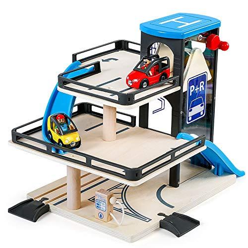 Lihgfw Young Children's Drie verdiepingen tellende parkeerplaats puzzel speelgoed auto Model Car Track Glider 3-6 jaar oud