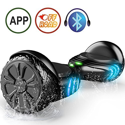 TOMOLOO Hoverboard with Bluetooth and LED Lights Two-Wheel Self Balancing Scooter with UL2272 Certified, 6.5' Wheel Electric Scooter for Kids and Adult