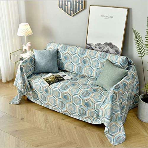 GAOZHEN Serviette de canapé imprimée feuille, Coussin de canapé antidérapant à Deux Places, housse de canapé Pour toutes Les saisons