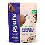 Organic Chocolate Drink Mix with Cocoa by Pyure   Sugar-Free, Keto, 1 Net Carb   7.23 Ounce